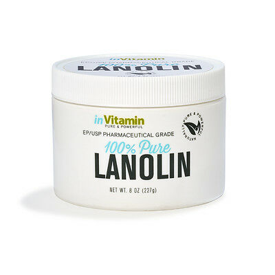 inVitamin Pharmaceutical Grade Lanolin Natural Moisturizer (8 oz)