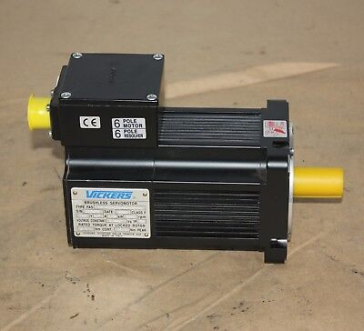 Vickers Brushless Servo Motor FAS T-1-M2-030-00-00-00 180V 0.54kW 2.7A NEW