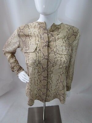 346a5caee516e8 EQUIPMENT ANIMAL BLOUSE Liam Canopy Snake Print Silk - Size S ...