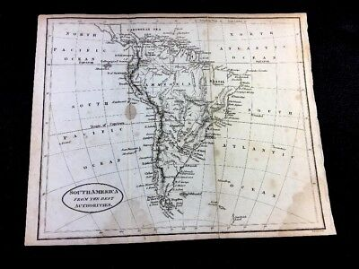 Antique Map Of South America 1792