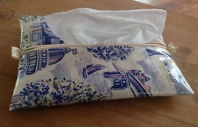 Baby Wipes/Wet Wipes Case/Cover in Cath Kidston 'London Toile' - Ribbon Trim