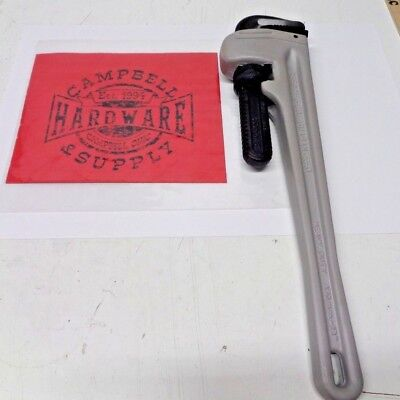 """Pipe Wrench Pro Reed 18"""" Aluminum Quality Plumbing Hand Tools Skill Trades Man"""