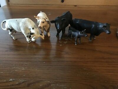Schleich Lot Of 5 RARE Cattle used