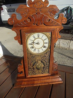 """1875 Waterbury Steeple Clock """"Nelson"""" Excellent Christmas GIFT!"""
