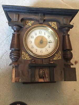 "Antique American Mantle Clock For Restoration 6"" By 10"" (7"")"