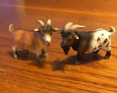 Schleich Lot Of 2 RARE Mini Goats used