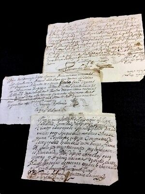 Lot Of Three Spanish Manuscripts 1604-1701