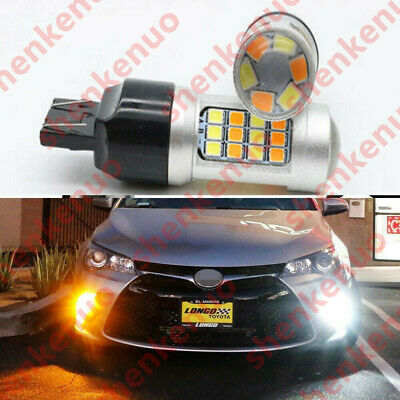 For 2015-2017 Toyota Camry 2PCS Turn Signal Light DRL Switchback LED Bulbs