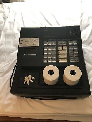 CASIO 140CR ELECTRONIC CASH REGISTER + 2 sets of keys and 2 rolls printer paper