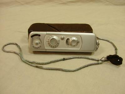 """Vintage Minox B """"Spy"""" Subminiature Camera w/ Leather Case & Chain G1"""