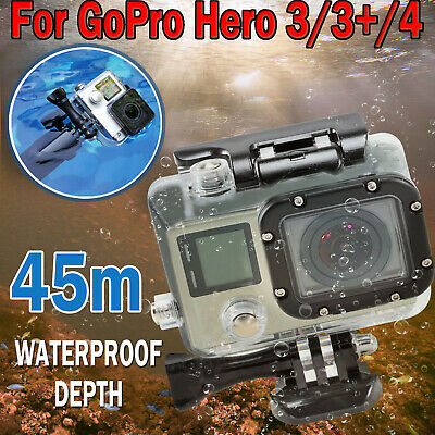 Waterproof Diving Surfing Protective Housing Clear Case For GoPro Hero 3 3+ 4