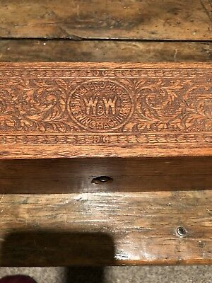 Antique Oak Wheeler And Wilson Sewing Parts Box