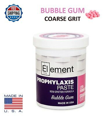 COARSE GRIT BUBBLE GUM ELEMENT PROPHY PASTE DENTAL PROPHYLAXIS - 340g (12oz) Jar