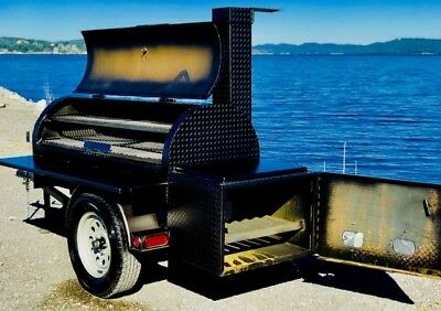 Reverse Flow BBq Smoker, Brand New