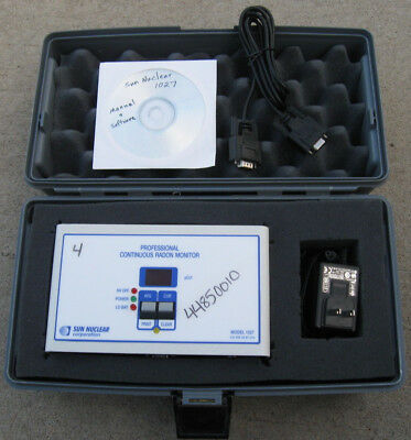 Sun Nuclear 1027 Professional Home Inspection Continuous Radon Tester Monitor