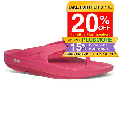 OOFOS OOriginal Fuchsia Thongs/Shoes Arch Support/Waterproof - Size US M5 W7