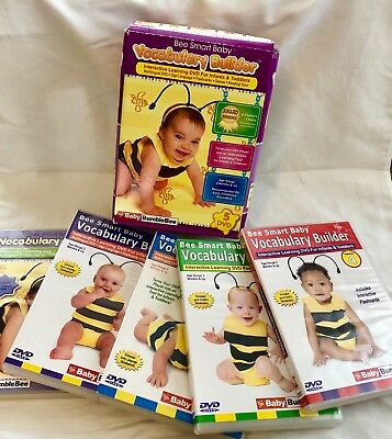 Baby BUMBLEBEE Vocabulary builder interactive learning DVD set 5 ~ as new