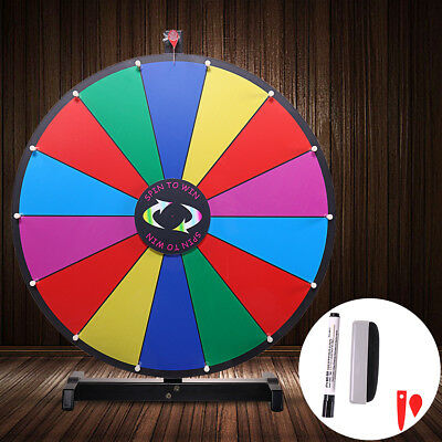 "24"" Tabletop Color Dry Erase Prize Wheel Fortune Spin Game Tradeshow"