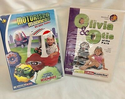 Baby BUMBLEBEE 2 DVDs - Motorized madness & Olivia & Otis educational DVDs x 2