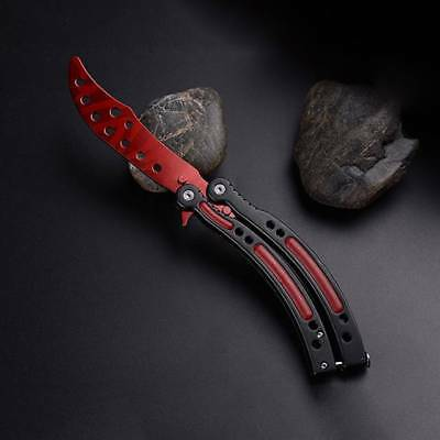 New Folding Practice Butterfly Knife Balisong Trainer Training Blunt Knife Tool