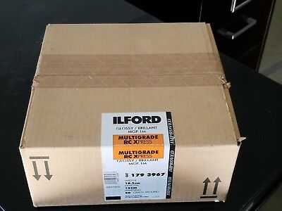 "New Ilford B&W 4""x500' Multigrade RC Xpress Glossy 05/2000 Sealed - Unopened"