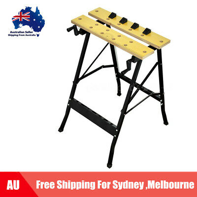 Foldable Workbench Saw Horse Trestle Work Bench Stand MDF Adjustable Angle L5V1