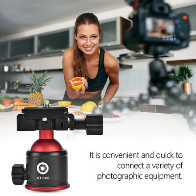 Portable Tripod Ball Head Mini Ball Head with Quick Release Plate For Camera