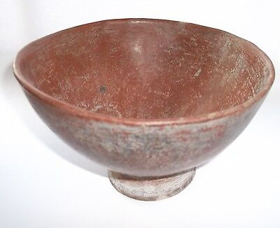 Pre-Columbian genuine Mayan terracotta bowl