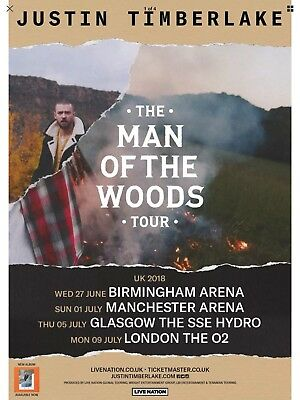 2 X Justin Timberlake Tickets Glasgow Hydro Standing 5th July 2018