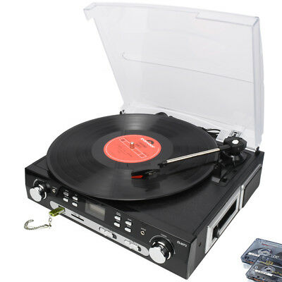 DIGITNOW! Retro LP Turntable Record Player 3 Speed Built in stereo speaker USB