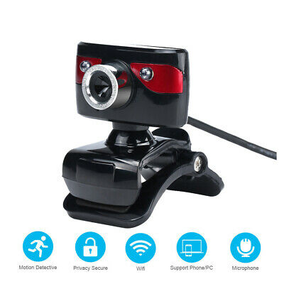 USB 2.0 12 Megapixel HD Camera Web Cam 360 Degree with Microphone Clip-on E0J9