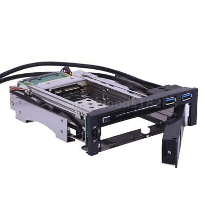 """3.5/2.5""""SATA HDD SSD Tray Caddy Mobile Rack Enclosure Dock Station Hot Swap S4Y7"""