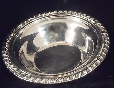 Sheffield Silver footed Candy Dish rope-style edge