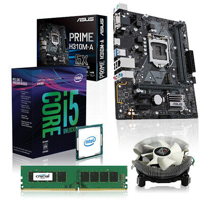 Aufrüst Kit Intel i5-8400 6x 2.8GHz (Hexacore), 16GB DDR4, ASUS PRIME H310M-A