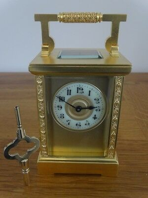 Pristine antique French timepiece carriage clock - c.1895/1905 - fully restored