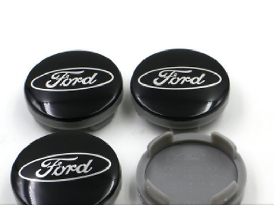 4 PC ford black 54mm Wheel Center Hub Caps Cover Badge Emblem For