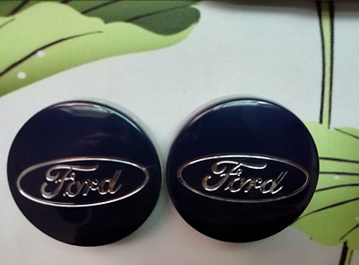 4 PC ford blue 54mm Wheel Center Hub Caps Cover Badge Emblem For