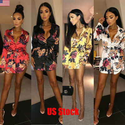 Top Fashion Summer Women Girl Lady Skirt Long Sleeve Floral Formal Party Dresses