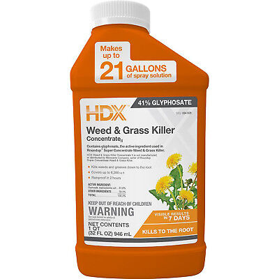 WEED AND GRASS KILLER CONCENTRATE 32 Oz Outdoor Lawn Garden Rainproof In 2 Hours