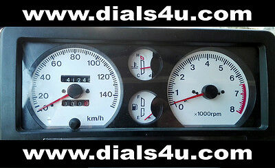 SUZUKI SJ SAMURAI / SANTANA JEEP (1985-1998) - 140km/h DASHED - WHITE DIAL KIT
