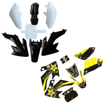 7 pcs Plastics Fender Kit + Graphics Stickers kit For Honda CRF50 SSR Dirt Bike