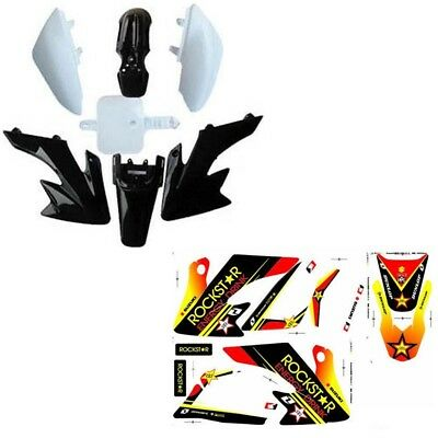 Pit Dirt Bike CRF50 Plastics Fairing + 3M Stickers kit 110cc 125cc PRO PIT DIRT