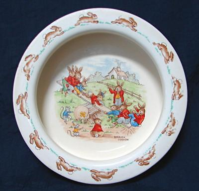 Art Deco Royal Doulton Barbara Vernon Bunnykins porridge bowl