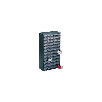 324208 , Storage Cabinet Clear 60 Drawer System Dark Grey , H555xW307xD150mm
