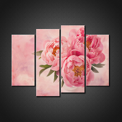 Pink Peony Flowerscanvas Print Picture Wall Art Home Decor