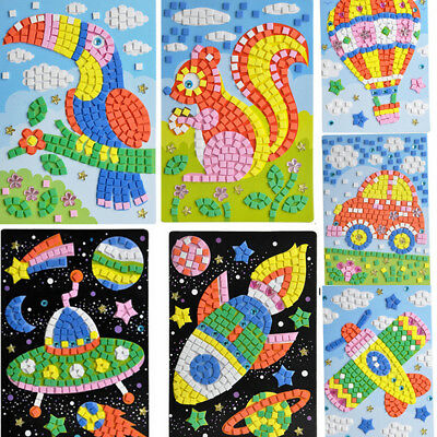 3D Mosaics Creative Pattern Sticker Puzzle Training for Kids Educational Toy