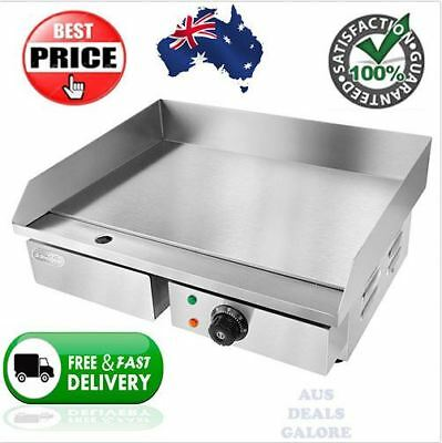Commercial Electric Grill BBQ Counter Top Stainless Steel Griddle Silver 15AMP