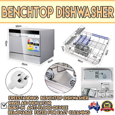 Electric Benchtop Dishwasher Machine Small Compact Dish Washer Dishwashing