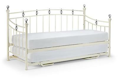 Encina Daybed Metal Frame Bedroom Furniture Traditional Stone White