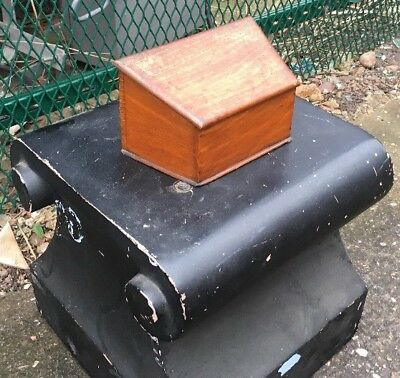 Original Antique Victorian Solid Mahogony Letter Box Holder